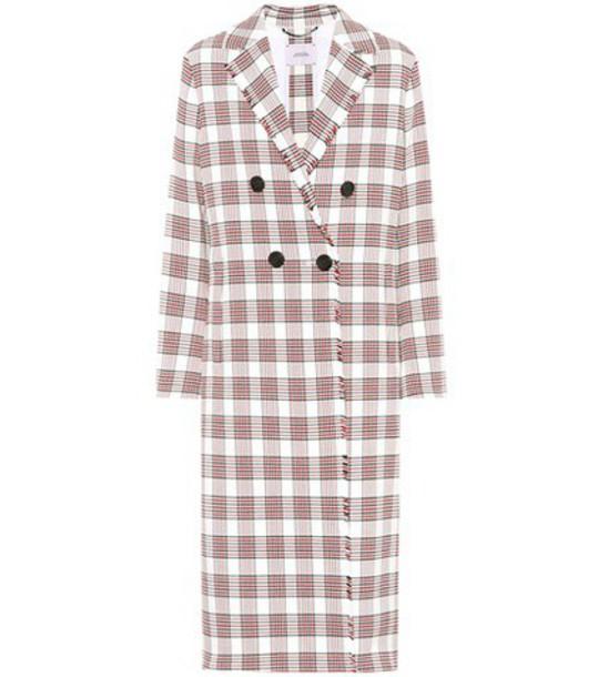 Dorothee Schumacher coat plaid cotton tartan white