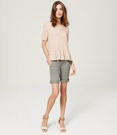 top,peplum,blush pink