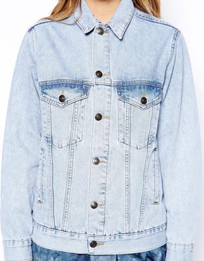 ASOS Petite | ASOS PETITE Exclusive Light Wash Oversized Denim Jacket at ASOS