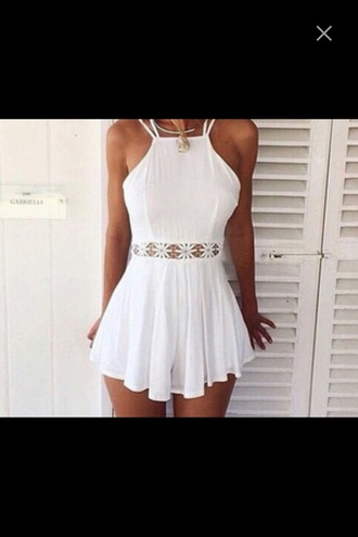 dress white lace white dress summer dress cute dress dentelle lace dress