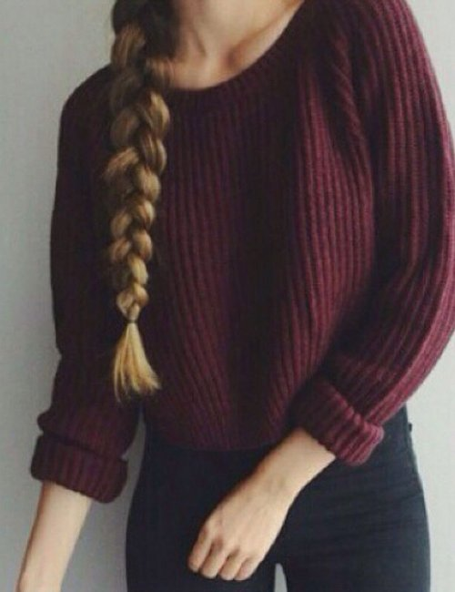 Women's Autumn Casual Crop Sweater