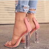 shoes,glitter,see through,pink,nude,white,coord,neon,clear