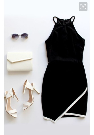 dress black dress summer summer dress black and white short dress summer outfits