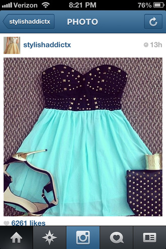 shirt aqua skirt aqua blue cute instagram