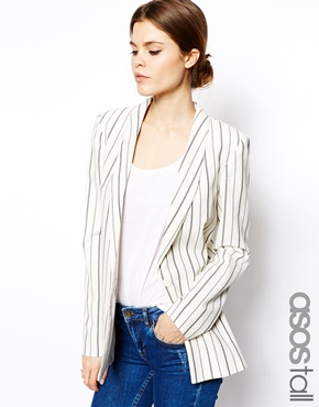 ASOS Tall | ASOS TALL Blazer In Stripe at ASOS