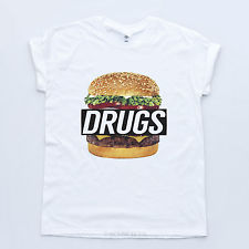 Drugs burger new t shirt disobey king streetwear supreme fresh tyler creator tee