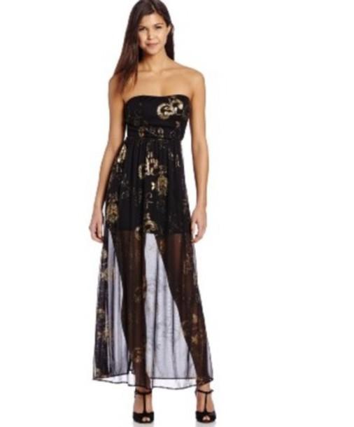 dress black gold