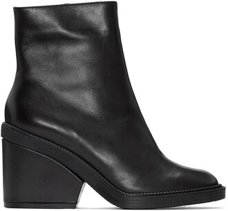 babe boots ankle boots black shoes