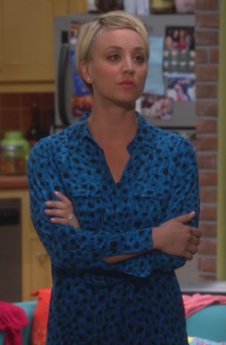 blouse big bang theory penny kaley cuoco leopard blouse