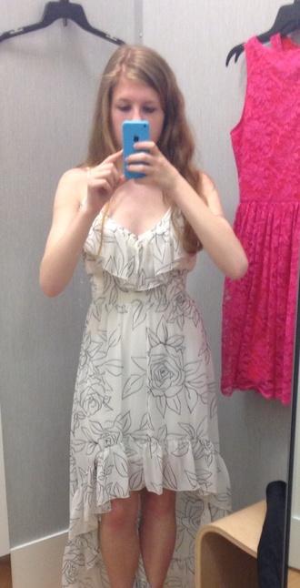 dress brand white dress black dress high low dress