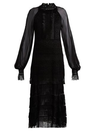 dress midi dress midi lace black