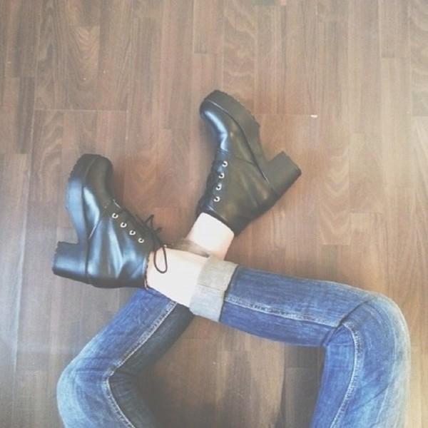 shoes boots platform shoes grunge soft grunge jeans