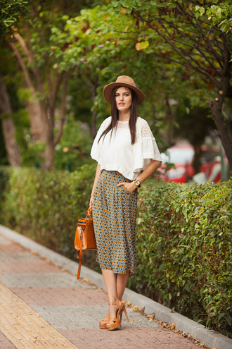 the bow-tie blogger top jewels hat shoes bag