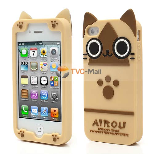 Cute Cat Silicone Case Cover For IPhone 4 4S