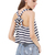 Black White Striped Back Bow Vest - Sheinside.com
