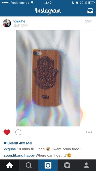 phone cover hmsa wood hippie boho