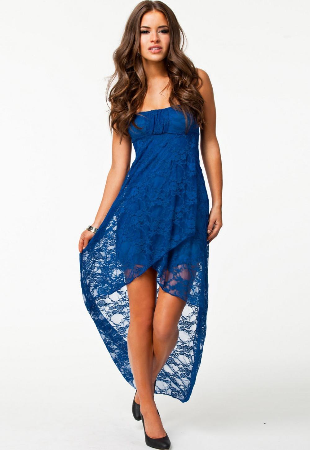 Livraison gratuite   2014 new sexy robe de soirée lc6238 saphir bandeau de dentelle