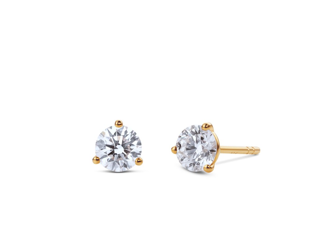 Solitaire Studs in White