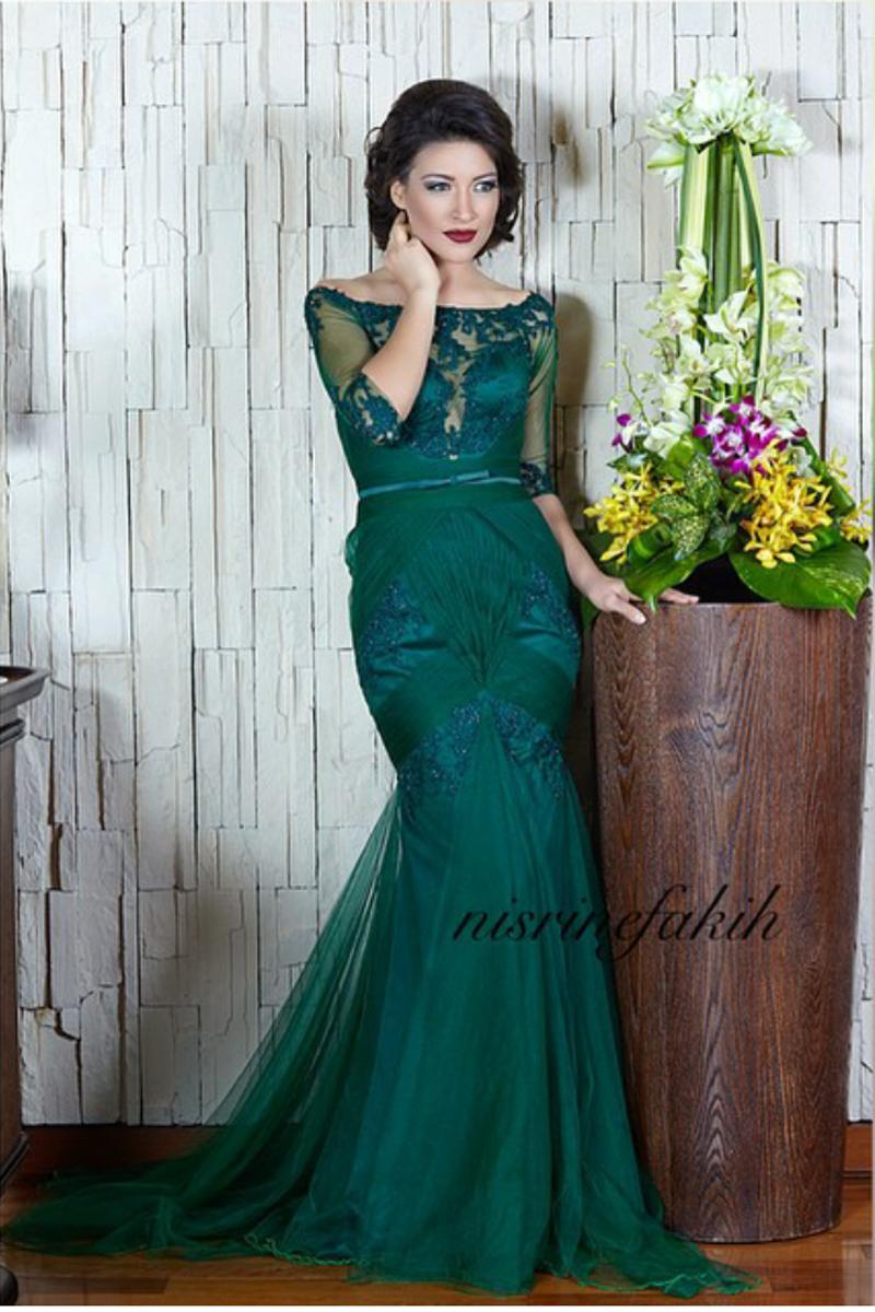 Short Dresses Vestidos De Baile Longa Emerald Long Prom Dresses ...