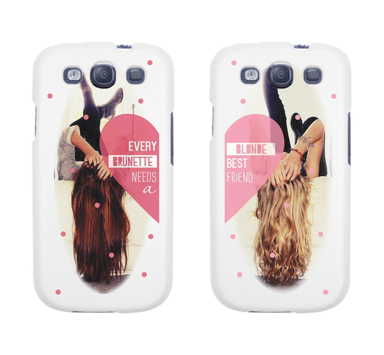 best cheap af4de 8b806 Amazon.com: Every Brunette Needs a Blonde Best Friend BFF Phone Cases for  iphone 4, iphone 5, iphone 5C, iphone 6, iphone 6 plus, Galaxy S3, Galaxy  ...
