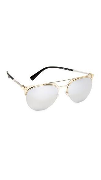 sunglasses aviator sunglasses pale gold silver