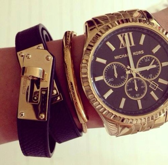 jewels michael kors watch clothes fashion michael kors watch michael kors bag michael kors bracelet gold jewellery bling girls mk mk watch