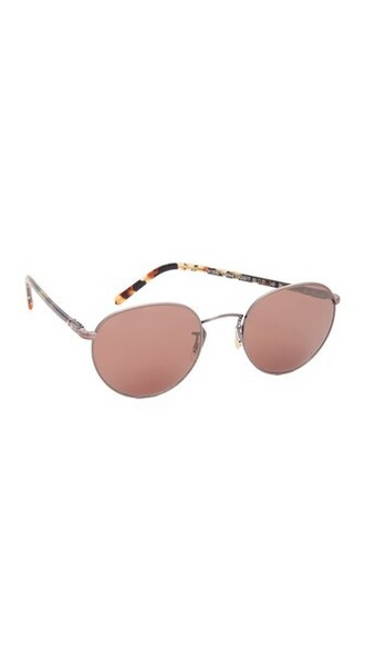 rose gold rose sunglasses gold burgundy