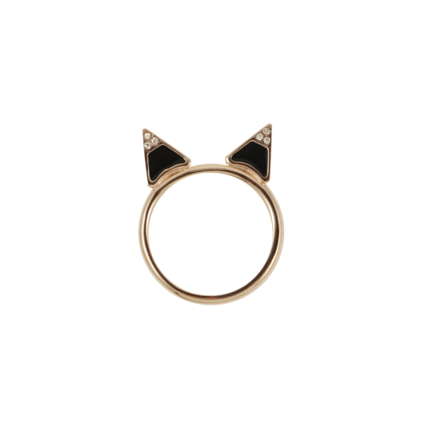 Kitty Ring | Lemon Stripes