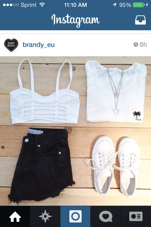 t-shirt crop tops white bralette cute