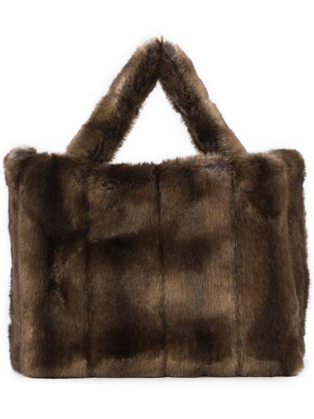Staud fur faux fur women bag shoulder bag brown