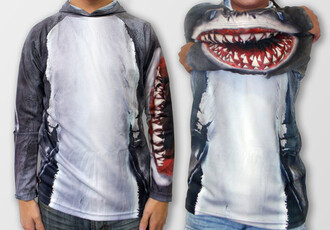 shirt shark teeth long sleeves ocean shark shark tooth