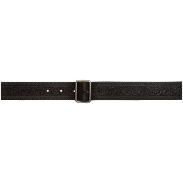 Saint Laurent Black Folk Embossed Belt