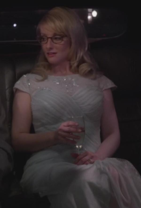 Cap Sleeve Lace Yoke Draped Gown, Mint