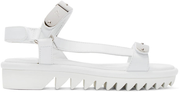 sandals silver white shoes