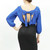 Pretty back bow blouse Royal blue