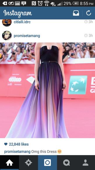 purple dress little black dress ombre dress
