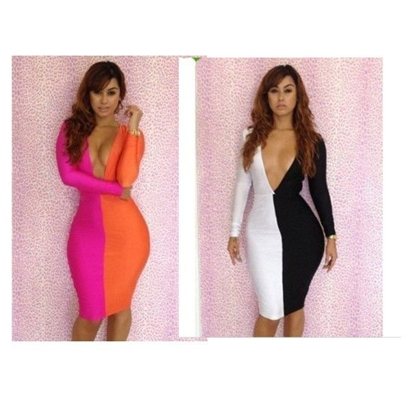 Sexy Women Deep V Bodycon Backless Clubwear Slim Cocktail Dress | eBay