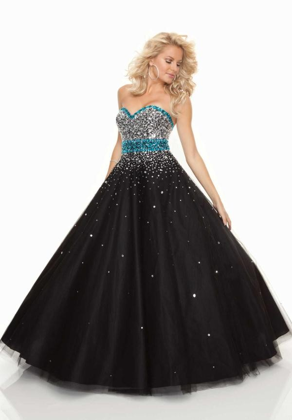 dress black blue prom dress glitter dress