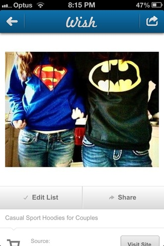 jacket superman batman black blue
