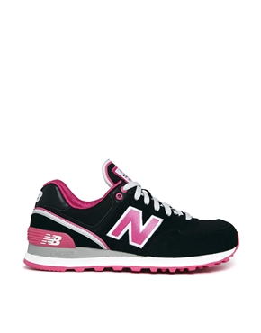 New Balance - Stadium 574 - Baskets - Noir/Rose