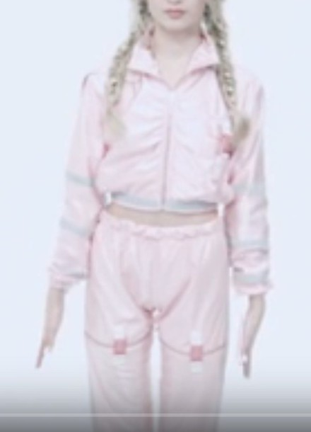 jumpsuit that poppy pink pinkjumpsuit celebrity celebritystyle clothes jacket pants braid youtuber poppy blond