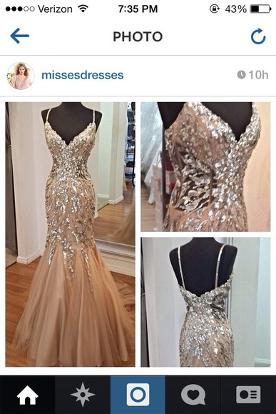 dress prom dress sparkly dress tan dress beige dress long prom dresses 2014 prom dresses glitter dress