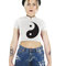 Yin yang t-shirt, crop yin yang top, graphic crop tee, harmony balance love, 90s soft grunge, recycled materials