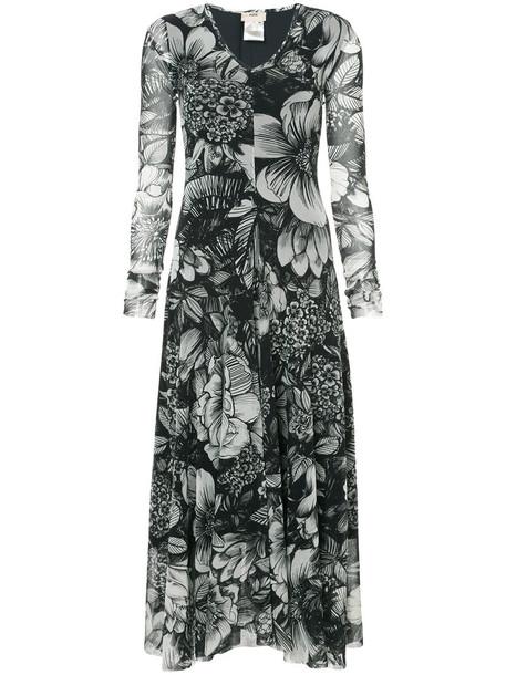 Fuzzi dress print dress women floral print black