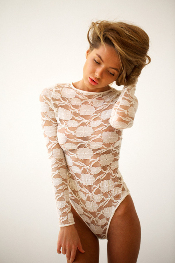 shirt one piece tanned girl lace lace tumblr white jumpsuit