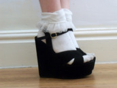 shoes,high heels,cute,vintage,underwear,platform shoes,socks,socks and sandals,shoes black wedges,wedges,black,steve madden