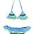 Bonny Blug bikini set - kids - Polyamide/Spandex/Elastane - 10 yrs, Blue, Mc2 Saint Barth Kids