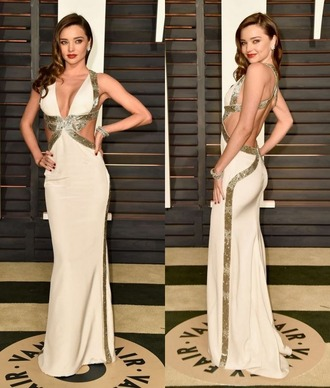 dress gown miranda kerr red carpet dress