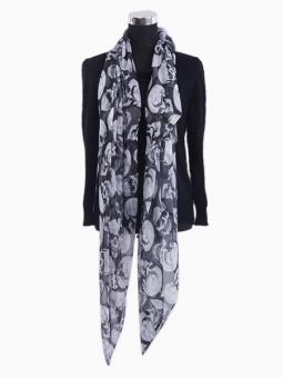 LEMONPAIER Skull All Over Print Scarf | Choies
