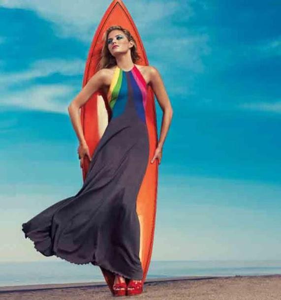 f441a99198c dress clothes emma stone rainow maxi dress rainbow dress halter neck